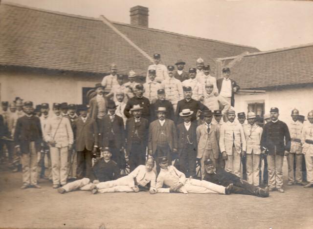 Historické foto - sbor hasičů