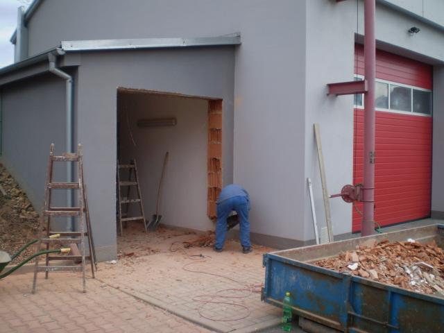 úpravy otvoru pro instalaci vrat