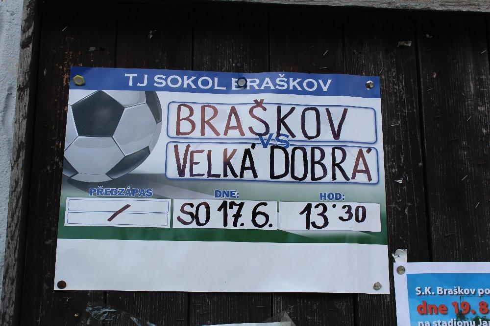 Braškov – Velká Dobrá 0-2. Odchod legendy.