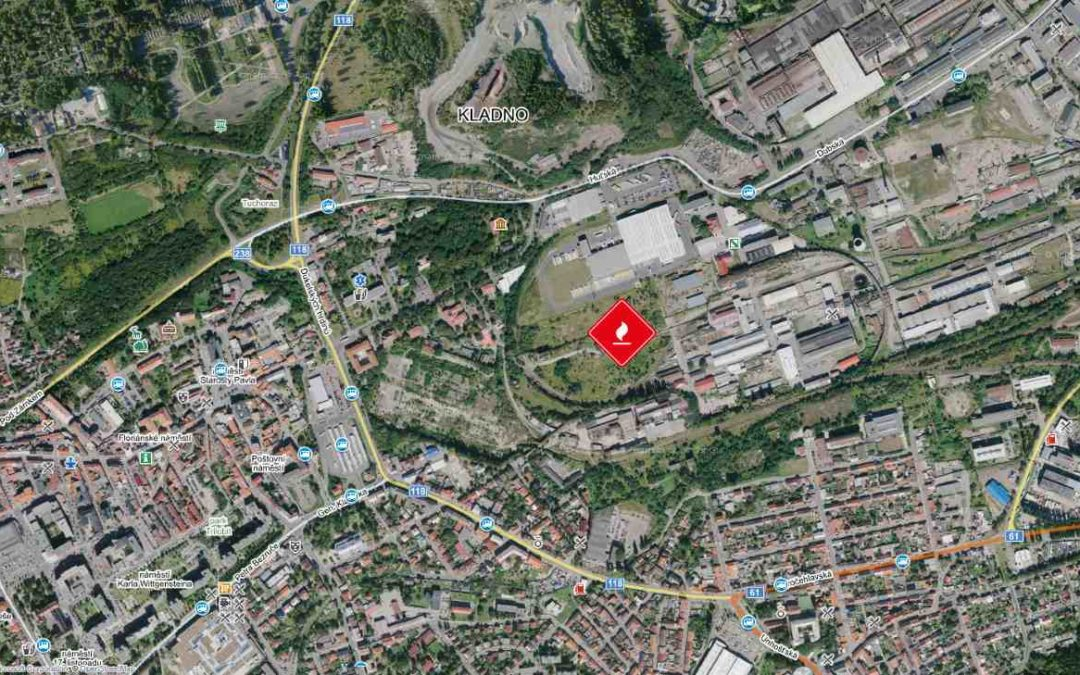 Požár – tráva a odpad, bývalý areál Poldi
